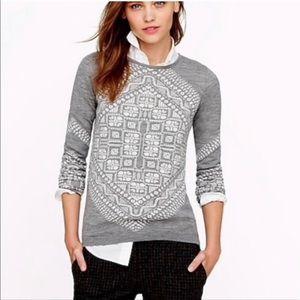 J. Crew Black Label Gray Merino Wool Sweater